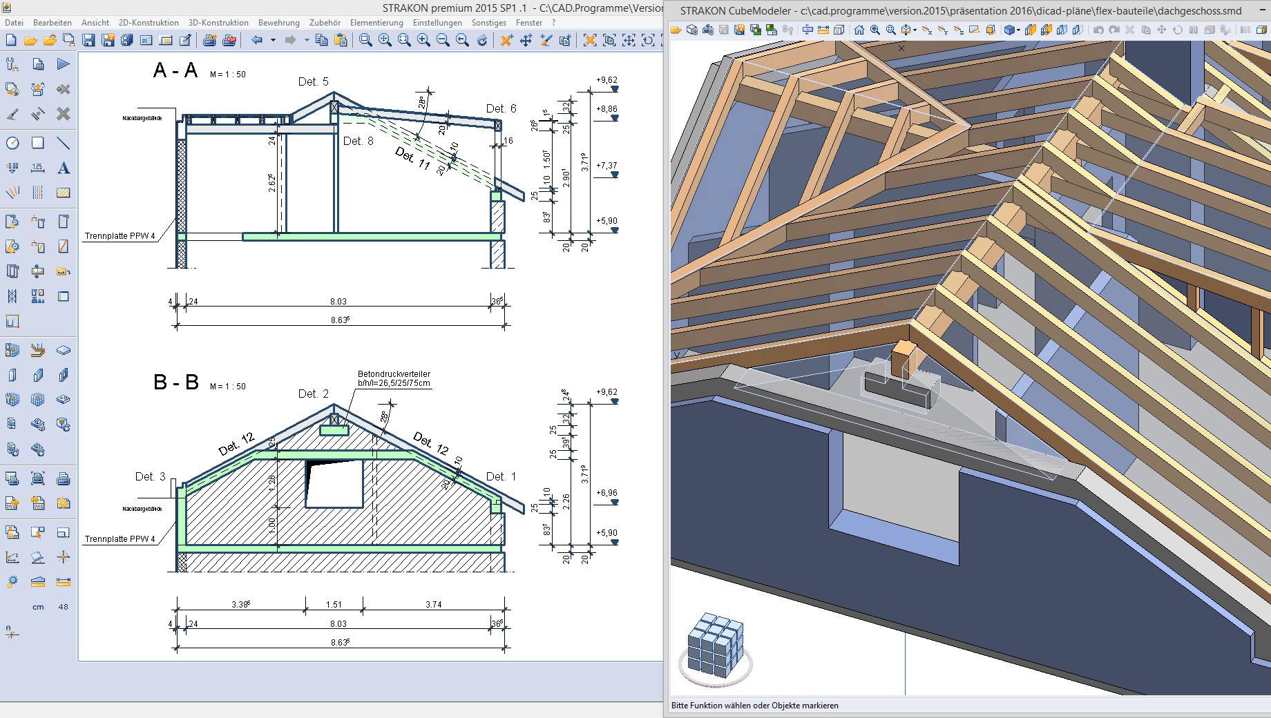 Bim 3d Planung Mit Der Cad Software Strakon Dicad Diagram Dachkonstruktion